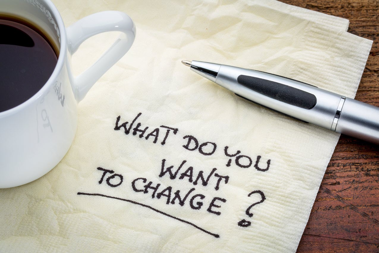 what do you want to change written on napkin