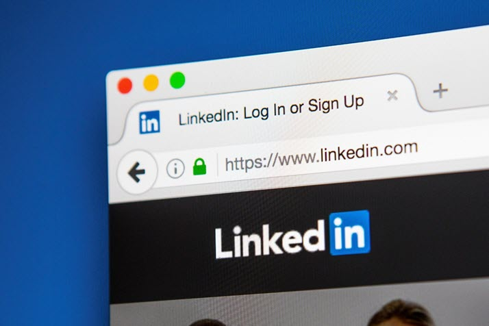 photo of LinkedIn login